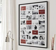 """Oversized Pottery Barn frame $249. Holds 32 5""""x7"""" photos.  Bigger than I need but something similar would be great to document our vacations to HNL showing how the kids grow year on year."""