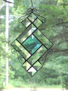 Stained Glass Suncatcher Clear & Pale by CartersStainedGlass, $19.00