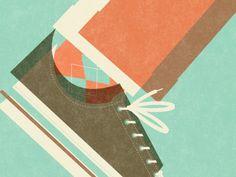 dig the vintage overprint and paper fiber look