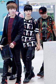 Bangtan Boys - airport fashion