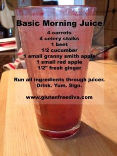 Juicing for gluten free health!