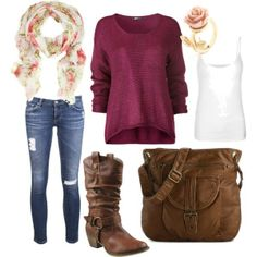 """""""Romantic Fall"""" by sadiesnapped on Polyvore"""
