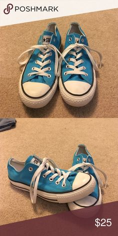 Bright blue all-star converse Converse in great condition. Only worn a few times. No damage. Converse Shoes Sneakers
