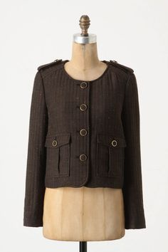 Cartonnier Anthropologie Jacket Brown Blazer. Free shipping and guaranteed authenticity on Cartonnier Anthropologie Jacket Brown Blazer at Tradesy. Military inspired cropped jacket from Cartonnier i...