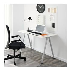"THYGE Desk  - IKEA; Get 2! One for sewing machine with 24"" extension table and one to extend my quilts behind my sewing space!"