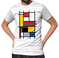 Men's Piet Mondrian Inspired T-Shirt