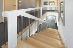 Wood meets metal. Holz trifft Metall. #staircase #elegant #treppe #design
