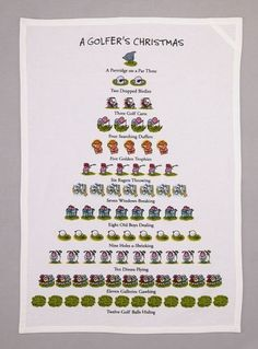 Twelve Days Of a Golfers Christmas Flour Sack Kitchen Dish Towel 18 x 26 >>> Check this awesome product by going to the link at the image. Holiday Jobs, Holiday Gifts, Holiday Decor, Christmas Towels, Christmas Kitchen, Christmas Messages, Twelve Days Of Christmas, Xmas Holidays, Dining Table In Kitchen