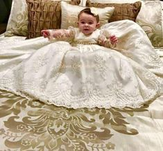 """""""Karina"""" Christening gown-baptism-baptizes-boutismo-White only Baptism Outfit, Baptism Gown, I Dress, Baby Dress, Gown Photos, Camo Wedding, Communion Dresses, Christening Gowns, Baby Sewing"""