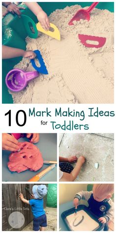 10 Mark Making Ideas for Toddlers | Clare's Little Tots