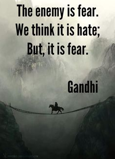 and i realised this for myself . fear is the enemy ! think about anxiety or why…