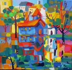 Isabel le Roux - South African Artist Bright Colors Art, African Colors, South African Artists, Tropical Art, Painting Gallery, Art Themes, Naive Art, Artist Painting, Art Images