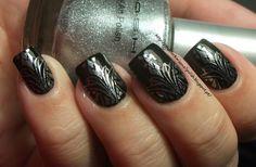 MASH Metallic Silver stamping polish & MASH 41