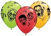 "11"" Assorted Zombies Latex Balloons (50 ct.)"