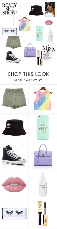 """""""Miss Earth"""" by margaretscloset on Polyvore featuring River Island, adidas Originals, ban.do, Converse, Lime Crime and Huda Beauty"""