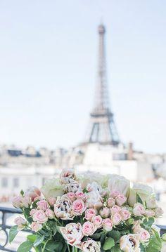 Lovely Clusters - Beautiful Shops: Paris Photography - A Paris Balcony, Eiffel Tower