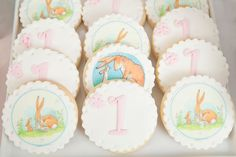 first birthday cakes with butterflies and bunnies - Google Search