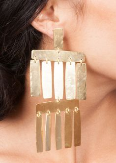 ANNIE COSTELLO BROWN ACB Roma Chandelier Earrings