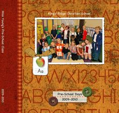 HM Pre-School Teacher Yearbook  8x8 Storybook  Template ID: 25797
