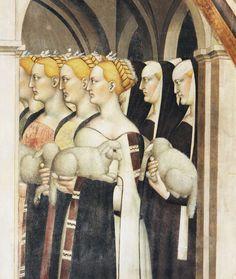 Giovanni da Milano, Joachim chassé du temple, 1365-1369 Florence, Santa Croce, chapelle Rinuccini