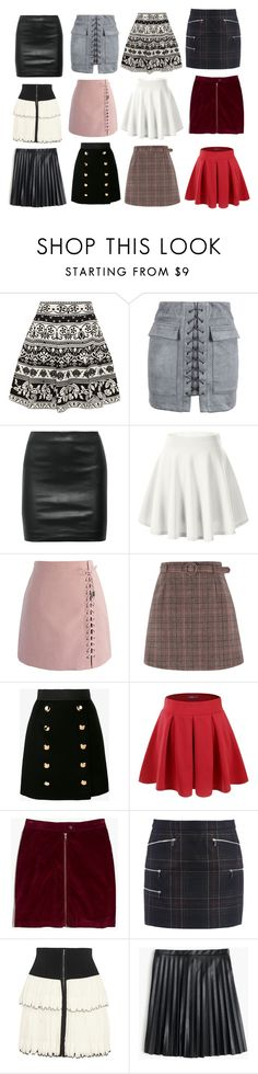 """""""Emmaline Reagan - Mini Skirts"""" by lalainkpot ❤ liked on Polyvore featuring Alexander McQueen, WithChic, The Row, Chicwish, Dolce&Gabbana, Doublju, Madewell, Barbara Bui, Isabel Marant and J.Crew"""