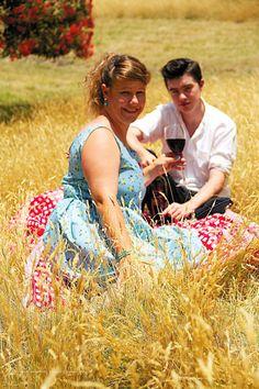 Sky blue floral sun dress by DressmakersWardrobe on Etsy, $120.00