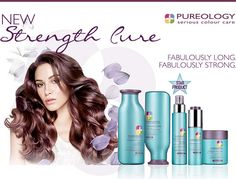Want strong long hair? Come purchase Strength Cure by pureology. It makes your hair stronger the first time you use it. Formulated with our exclusive Asta-Repair including Astaxanthin, a powerful antioxidant, the luxuriously creamy formulas help heal and provide the perfect balance of strength and velvety softness. Call and purchase your products today 561.265.4668.