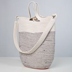 This basic shoulder tote is made from 200 feet of #6 100% cotton sash cord and high strength, abrasion-resistant thread.