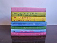 vintage book collection SPRING PASTELS edition by ErinSheaVintage, $32.00