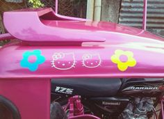 We've seen Hello Kitty cars, but this tricycle trumps them all