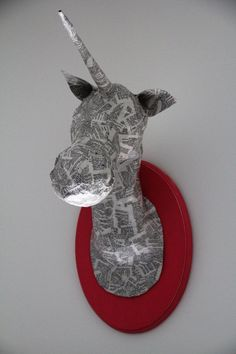 Custom Made Mounted Unicorn-You chose color. $30.00, via Etsy.