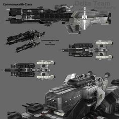 Commonwealth-Class Destroyer by HaloDarkAge on DeviantArt Spaceship Art, Spaceship Design, Concept Ships, Concept Art, Unsc Halo, Halo Ships, Science Fiction, Halo Game, Starship Concept