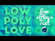 Low Poly text   Cinema 4D Tutorial - YouTube