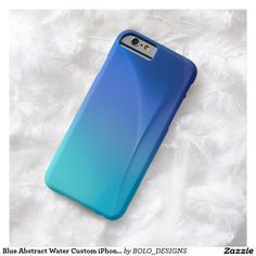 Blue Abstract Water Custom iPhone 6 Case by BOLO Designs.