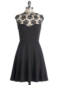 Dressed to Express Dress. You dont always need words to express your mood. #black #modcloth