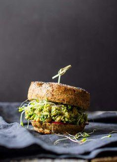 Avocado Pesto Chickpea Salad Sandwiches   Vegan, Vegetarian   Gluten-Free Plant-Based Recipes