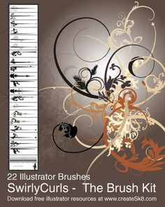 50 Beautiful Free Adobe Illustrator Vector Brushes.