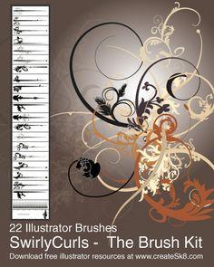 50 Beautiful Free Adobe Illustrator Vector Brushes.