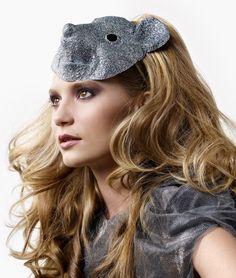 mia wasikowska with glitter animal mask