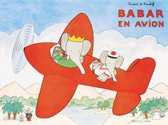Babar en Avion Prints by Laurent de Brunhoff at AllPosters.com