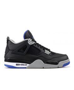b46d6d4c764 Nike Air Jordan 4 Retro Alternate Black Game Royal Matte Silver Outlet Sneakers  Nike, Air