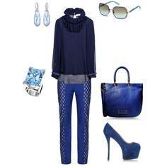 """""""Too Blue !"""" by catalogate on Polyvore"""
