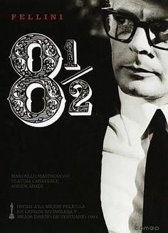 8 1/2 (1963) Italia. Dir: Federico Fellini. Drama. Sátira. Biográfico. Cine dentro do cine. Surrealismo. Películas de culto - DVD CINE 980