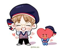 cute tata and tae cartoon fanart Bts Chibi, K Wallpaper, Cartoon Wallpaper, Kpop Drawings, Cartoon Drawings, Taehyung Fanart, Bts Taehyung, Fandom, Bts And Exo