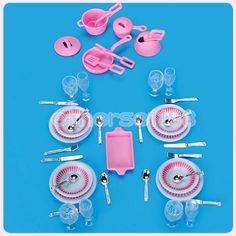 Lots 40Pcs Miniature Plastic Saucepan Pot Tray kitchen Accessory for Barbie Doll 2.29+0.99