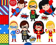 Superhero Digital Clipart Superhero Clipart Supergirl