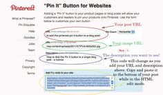 Great tutorial on adding Pinterest to blog posts!
