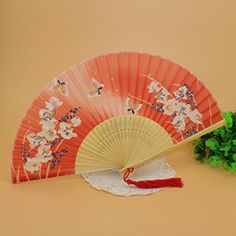 Japanese Design Silk Handheld Folding, Red with Fine Flowers and Butterflies HF34 Goldstones http://www.amazon.com/dp/B00IHV0HGQ/ref=cm_sw_r_pi_dp_u8klub06M7MST