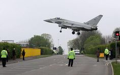 A Typhoon landing at RAF Northolt.