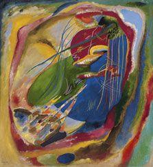 Ver a través de un zoom: El IEs Albal propone una reinterpretación de la obra de Wassily Kandinsky, Pintura con tres manchas, nº 196, a través de un juego de piezas #musaraña